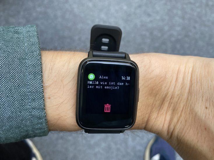 Haylou Smartwatch Benachrichtigungen