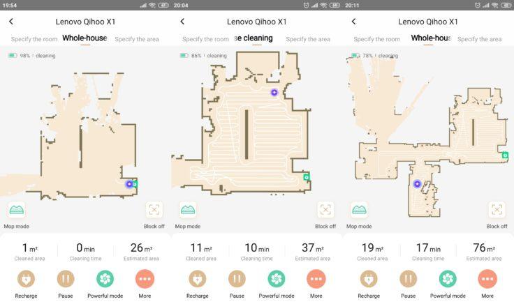 Lenovo X1 Saugroboter App Mapping Beginn