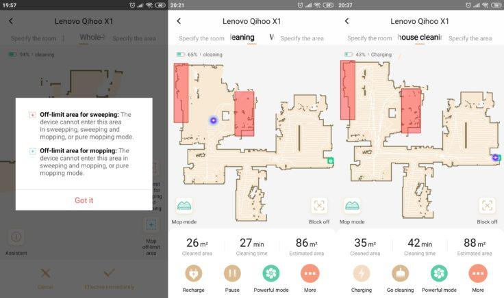 Lenovo X1 Saugroboter App Mapping No Go Zonen