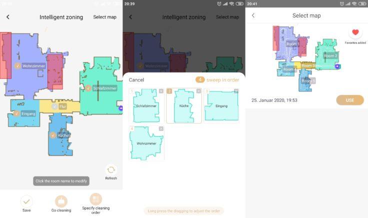 Lenovo X1 Saugroboter App Mapping Raumeinteilung
