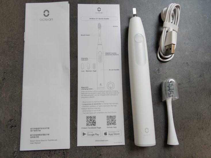 Oclean Z1 elektrische Zahnbuerste Lieferumfang