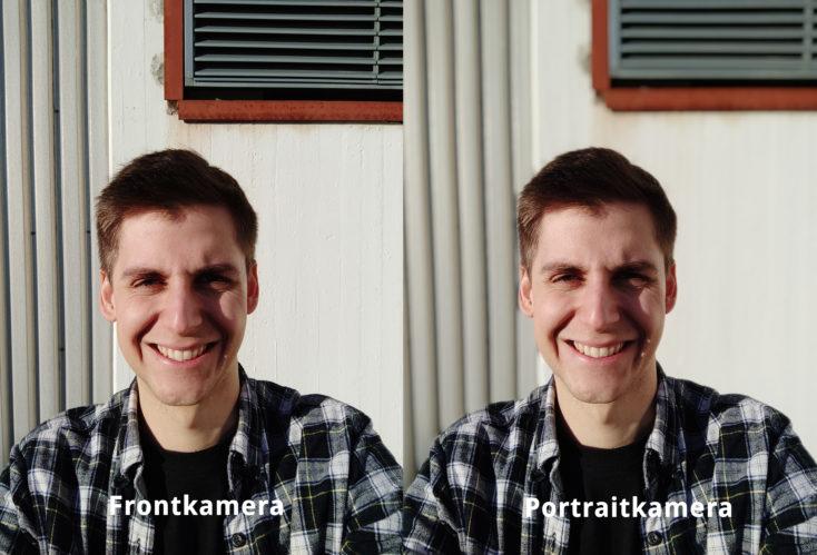 Redmi K30 Frontkamera Portrait Vergleich
