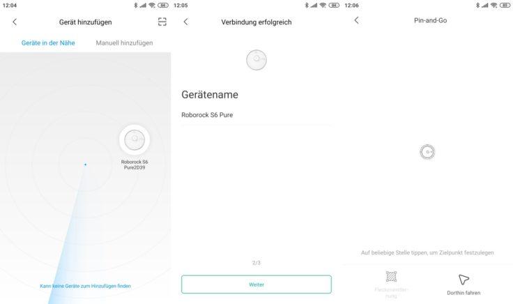 Roborock S6 Pure Saugroboter Xiaomi Home App Registrierung