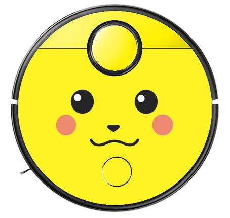 Saugroboter Sticker Roborock S4 Pikachu
