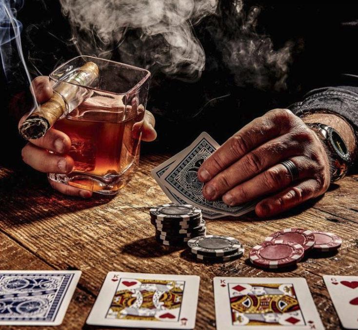 Whiskeyglas Zigarre