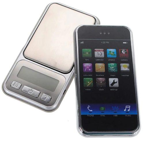 digitale Miniwaage Smartphone Display