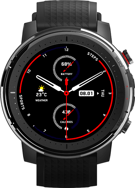 Amazfit Pace 3 Smartwatch Display front