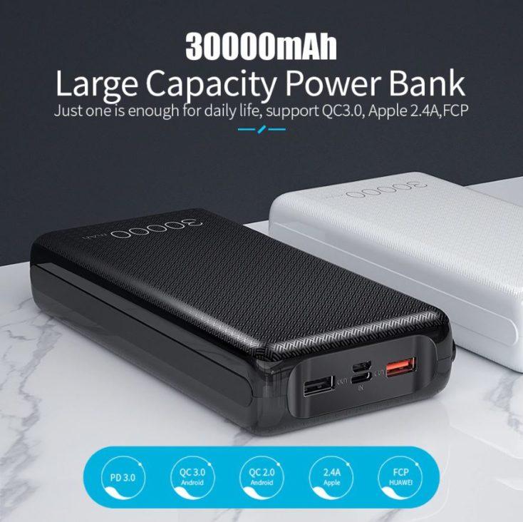Essager Powerbank 30.000 mAh 4