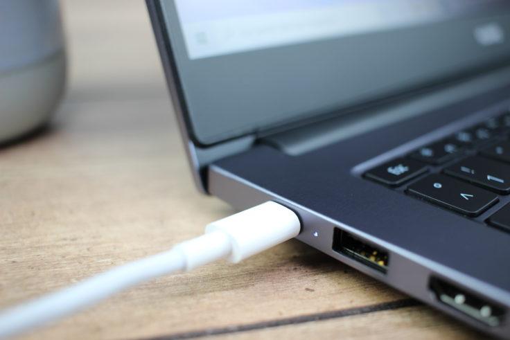 Huawei MateBook D14 AMD 2020 Ladevorgang