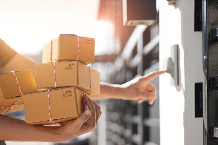 Paketlieferung an Haustür