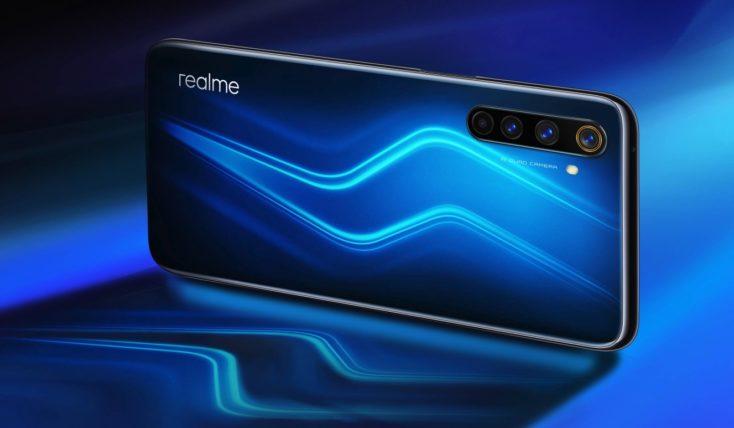 Realme 6 Pro Rueckseite Blau