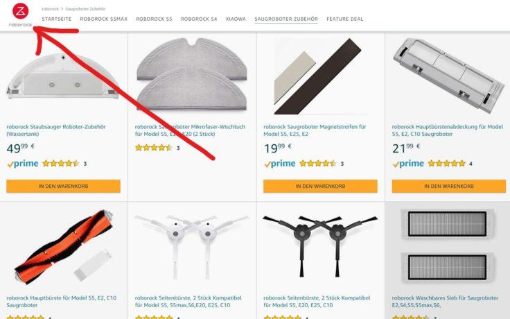 Roborock Amazon Shop Saugroboter Zubehoer Original