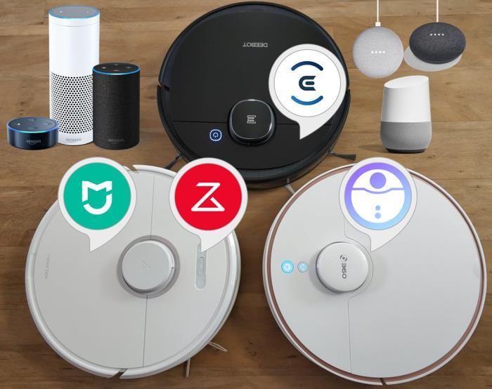 Saugroboter: Sprachsteuerung via Alexa, Google und Siri