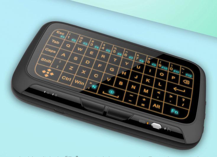Wireless Touchpad Tastatur Beleuchtung