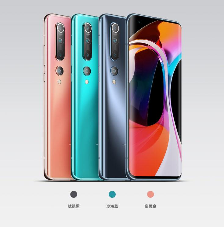 Xiaomi Mi 10 Farben