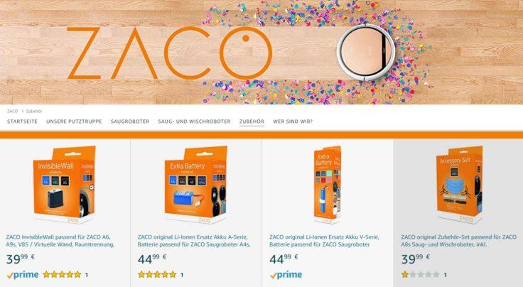 Zaco Amazon Shop Zubehoer Saugroboter