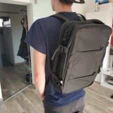 Bange Rucksack auf dem Ruecken