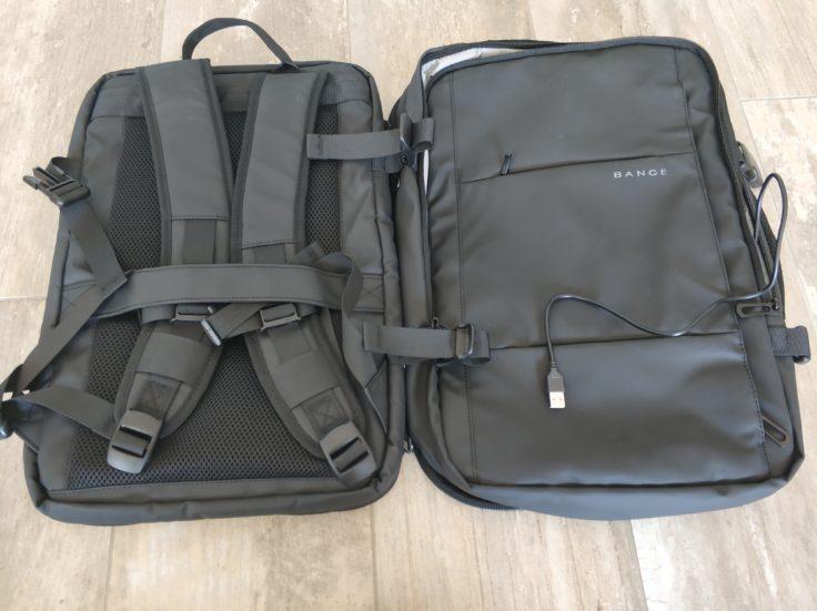 Bange Rucksack aufgeklappt Vorderseite Rueckseite