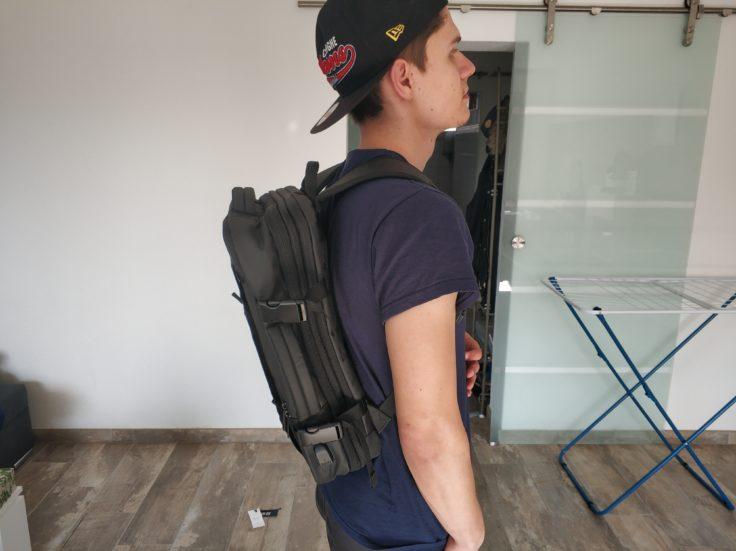 Bange Rucksack im Einsatz