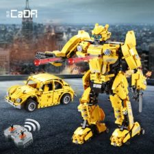 CaDA Roboter Verwandlung Bausatz Klemmbausteine 3