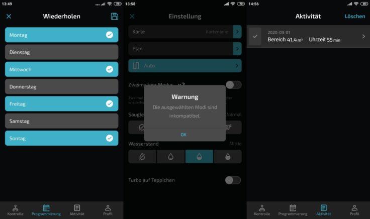 Cecotec Conga 5090 Saugroboter App Einstellungen