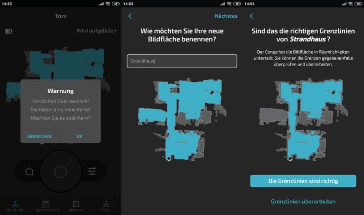 Cecotec Conga 5090 Saugroboter App Kartenspeicherung