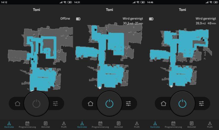 Cecotec Conga 5090 Saugroboter App Mapping Fortsetzung