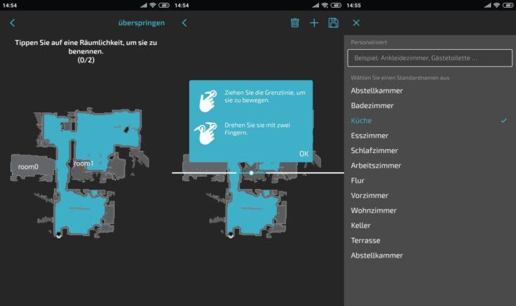 Cecotec Conga 5090 Saugroboter App Raumeinteilung