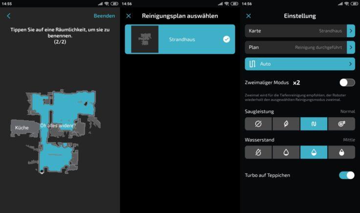 Cecotec Conga 5090 Saugroboter App Raumeinteilung Einstellungen