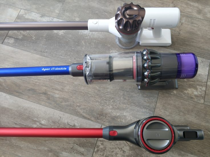 Dyson V11 Absolute Vergleich Dreame XR Roborock H6 Design