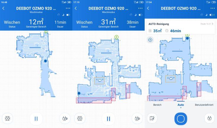 Ecovacs Deebot Ozmo 920 Saugroboter Home App Mapping