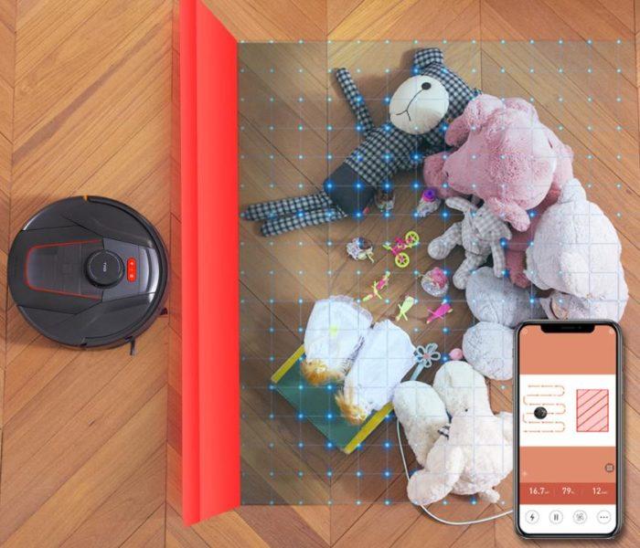 Haier TAB Saugroboter App virtuelle Waende