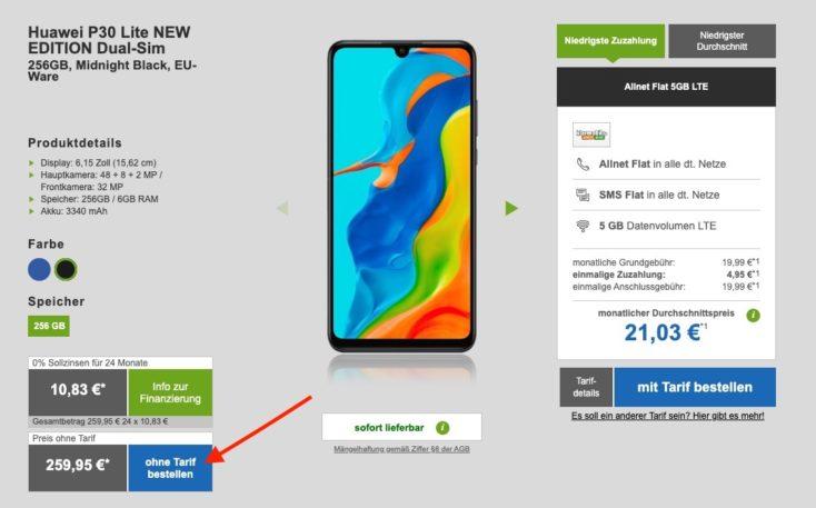 Huawei P30 Lite NE Angebot