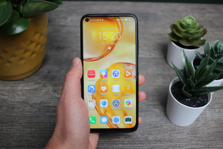 Huawei P40 Lite Smartphone in hand