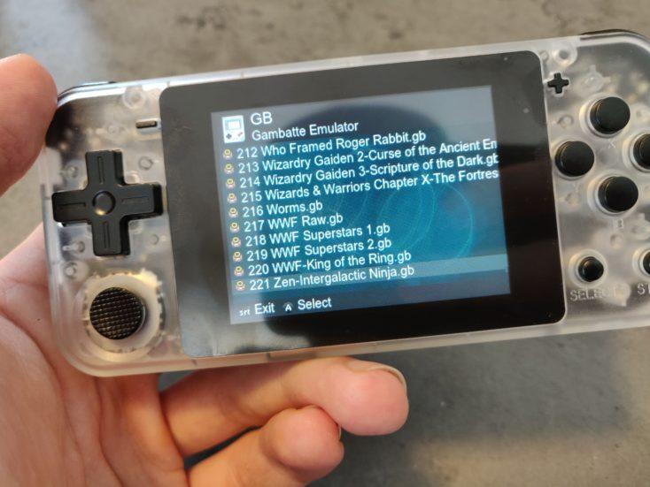 Powkiddy Q90 GameBoy Spiele