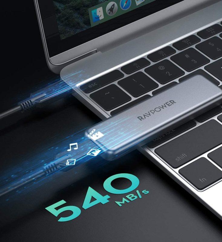 RAVPower Externe SSD Geschwindigkeit