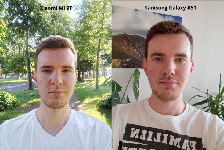 Samsung Galaxy A51 vs Mi 9T Frontkamera Vergleich