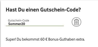 Vodafone Prepaid Gutschein