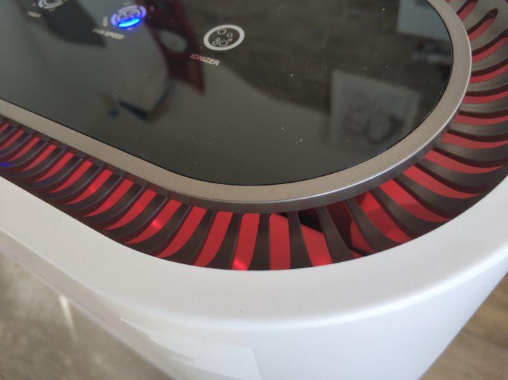 Geekbes Air Purifier Luftreiniger rotes Leuchten