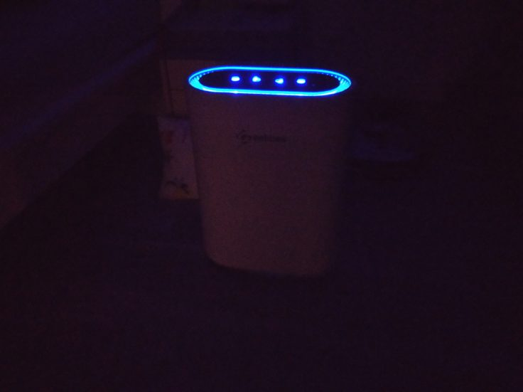 Geekbes Luftreiniger LED Leuchten Dunkelheit Betrieb