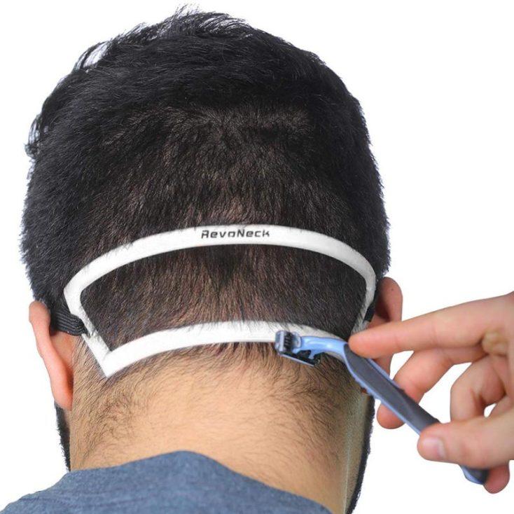 Haarschnitt Schablone am Nacken