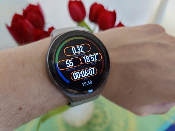 Huawei Watch GT 2e Lauf Anzeige Widgets