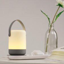 Portables Nachtlicht mit Qi-Ladestation