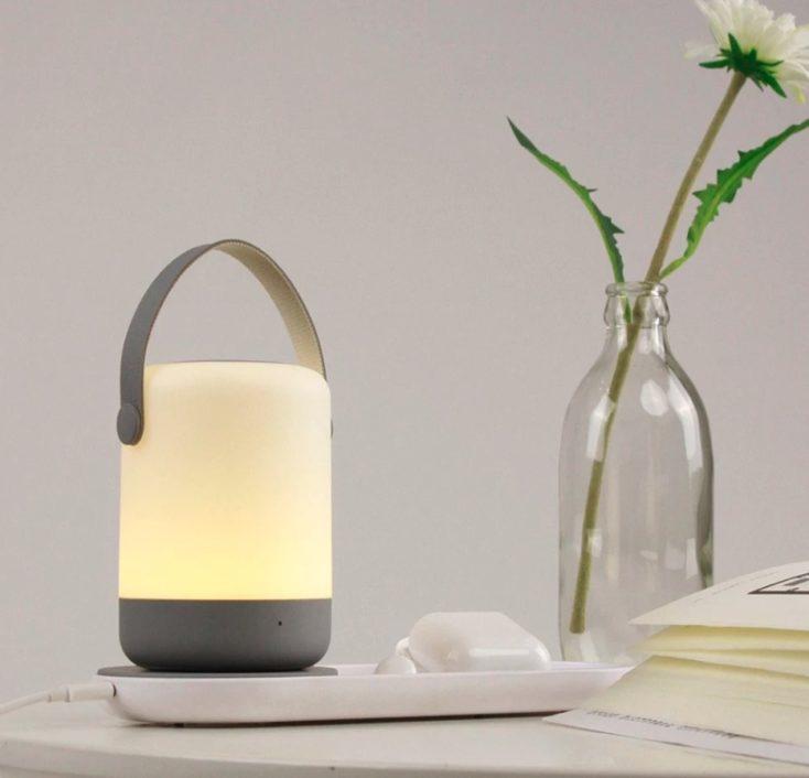 Portables Nachtlicht mit Qi Ladestation