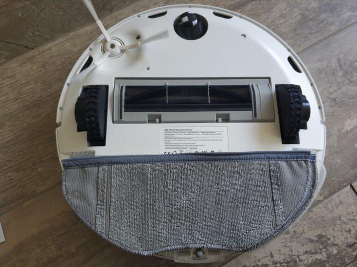 Qihoo 360 S6 Pro Saugroboter Unterseite Wischfunktion angebracht