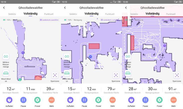Qihoo 360 S6 Pro Smart Saugroboter App Mapping virtuelle Waende