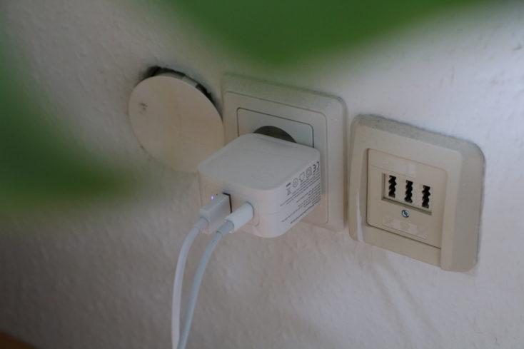 RAVPower 65W USB-C Lader in Steckdose