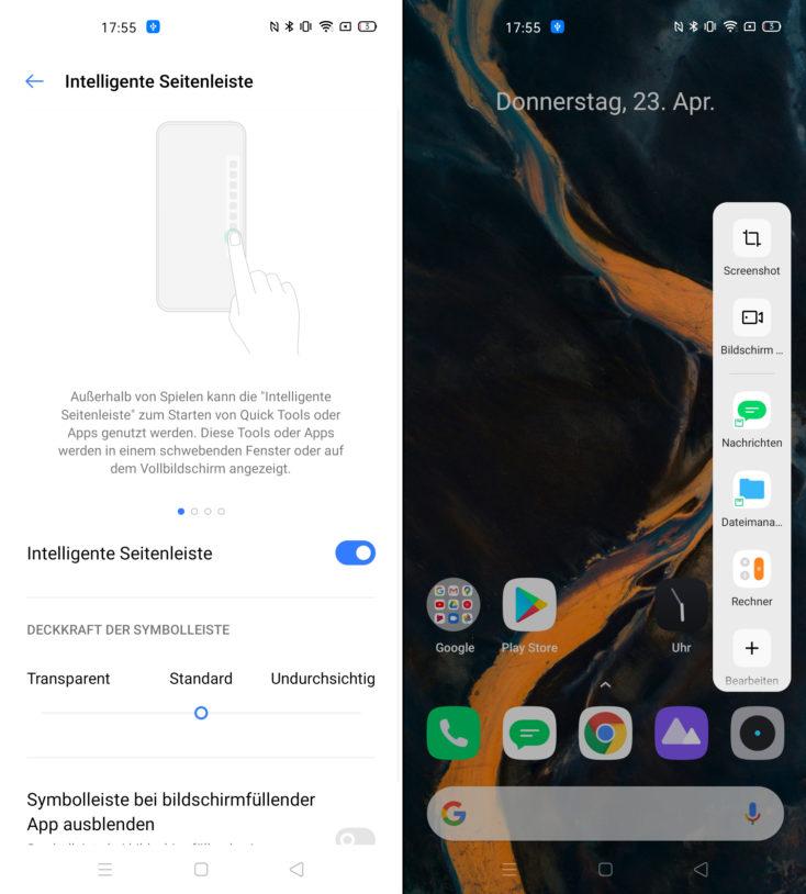 Realme X50 Pro Smart Sidebar
