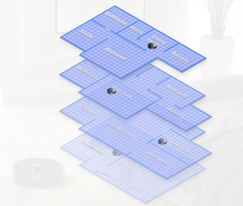 Roborock S6 MaxV Saugroboter App Etagenspeicherung mehrere Karten