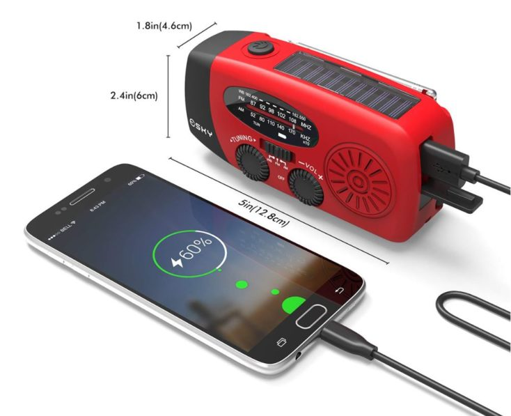 SOS Radio mit Handy.